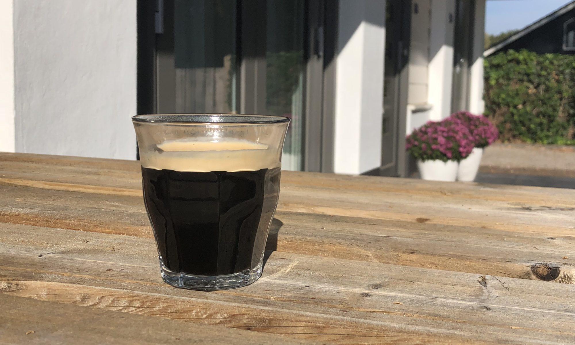 Koffie op het terras